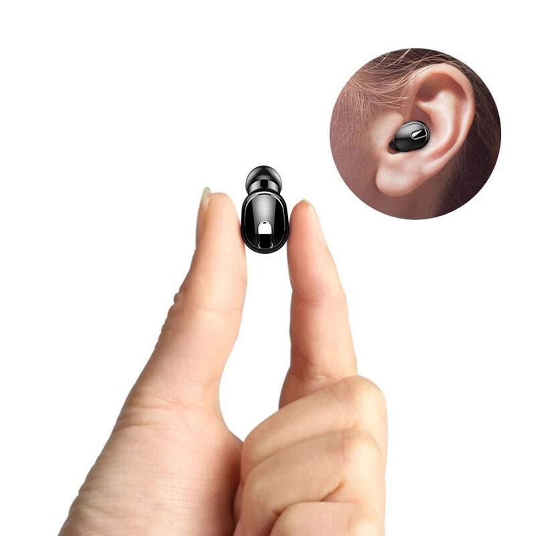 gikeba Auriculares inal/ámbricos Bluetooth en la Oreja Mini Auriculares con Estuche de Carga Auriculares y Cargadores suplementarios
