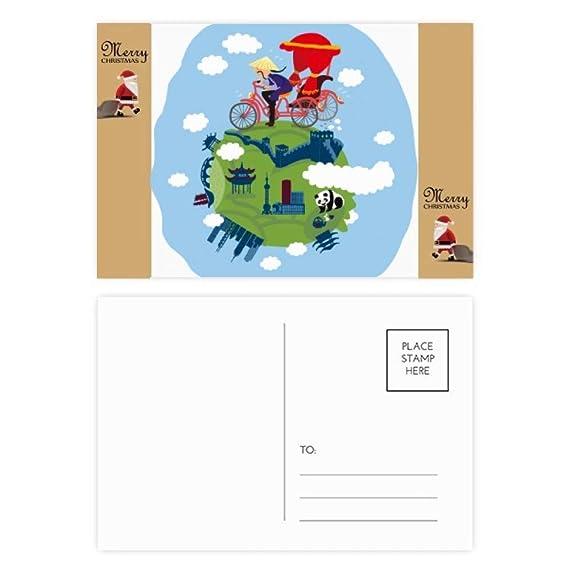 20 tarjetas de agradecimiento con diseño de Papá Noel ...