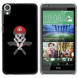 Be Good Phone Accessory // Dura Cáscara cubierta Protectora Caso Carcasa Funda de Protección para HTC Desire 820 // Mario Skull & Guns