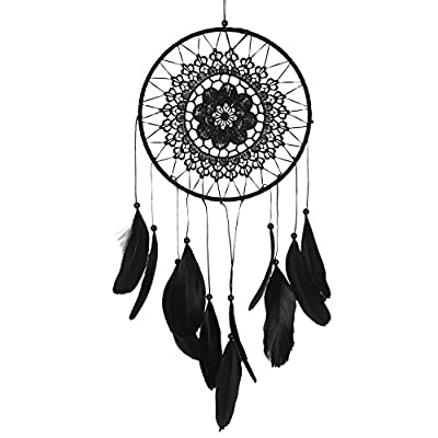 Soledi Dream Catcher Golden Feather 1 circle Indian Dreamcatcher Wall Hanging Decoration Ornament Gift