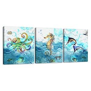 51ZQRZUxGVL._SS300_ Seahorse Wall Art & Seahorse Wall Decor