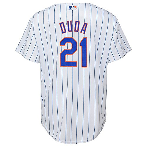 Outerstuff Lucas Duda MLB Majestic New York Mets Cool Base Home Jersey Youth (New York Mets White Jersey)