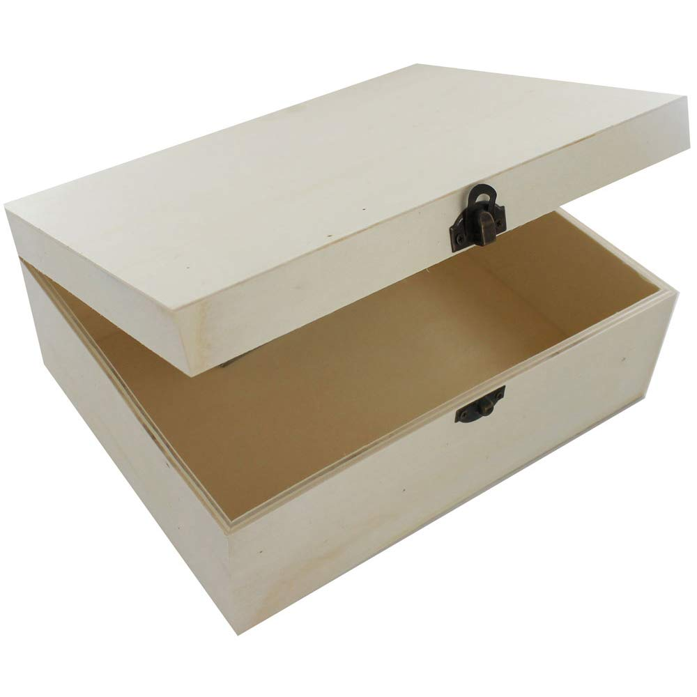 Large Wooden Box - 25 x 20 x 10cm