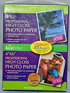 "300 ct. Royal Brites Glossy Photo Paper 4/"" x 6/"""