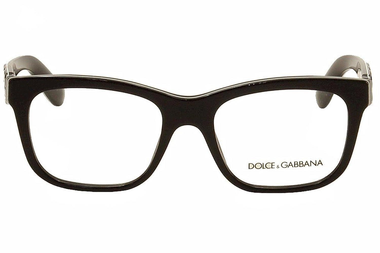 Dolce & Gabbana Brillen Für Frau 3239 Mamas Brocade 2998, Black / Texture Tissue Kunststoffgestell, 52mm
