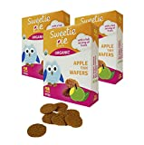 Sweetie Pie Organics Tiny Wafers Apple Organic Baby Healthy Snack Teething Biscuit Rusks, 3 Ounce (Pack of 3)