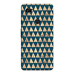 Cover It Up - Brown Navy Triangle Tile Pixel 2 XL Hard Case