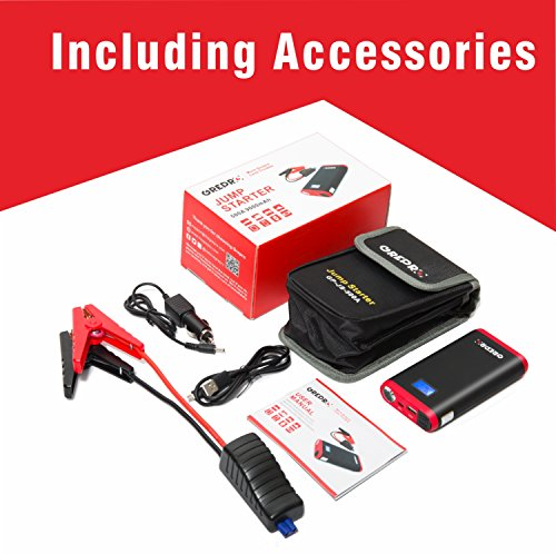 GREPRO Car Jump Starter 500A 12V Vehicle (Up to 4.5L Gas, 2.5L Diesel Engine) Smart Jumper Cable, Auto Battery Booster LED Flashlight, 9000mAh Portable Power Pack Quick Charge by GREPRO (Image #5)