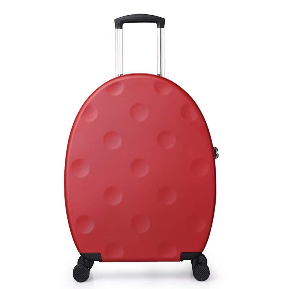 HEMFV ファッション楕円ユニバーサルホイールトロリーケース男性20インチ搭乗小さな新鮮なかわいいスーツケース女性の人格スーツケース (色 : 赤)  赤 B07R7KYTSJ