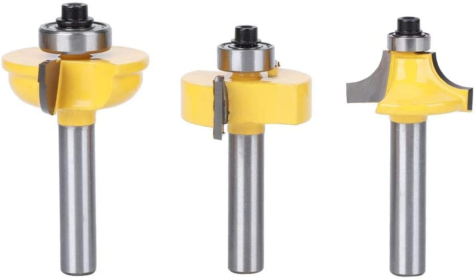Ball T+Reverse convex Minzi+Minzi 8 handle High Hardness Router Bit Kit for Wood Particle Board Woodworking Tools Milling Cutter