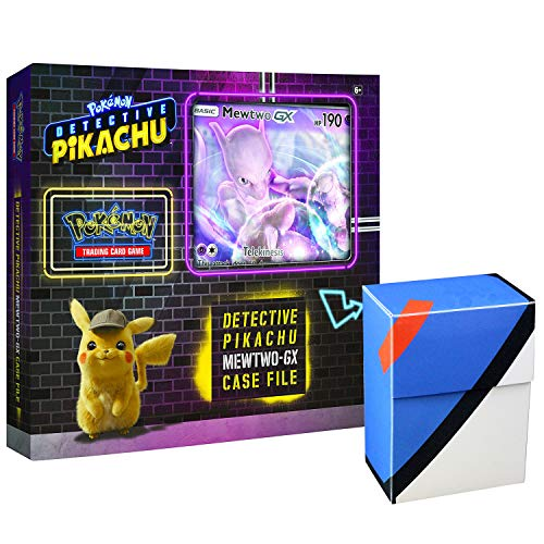 Pokemon TCG: Detective Pikachu Mewtwo-Gx Case File + 6 Booster Pack + A Foil Promo Gx Card + A Oversize Gx Foil Card + 1 Great Ball Inspired Deck -