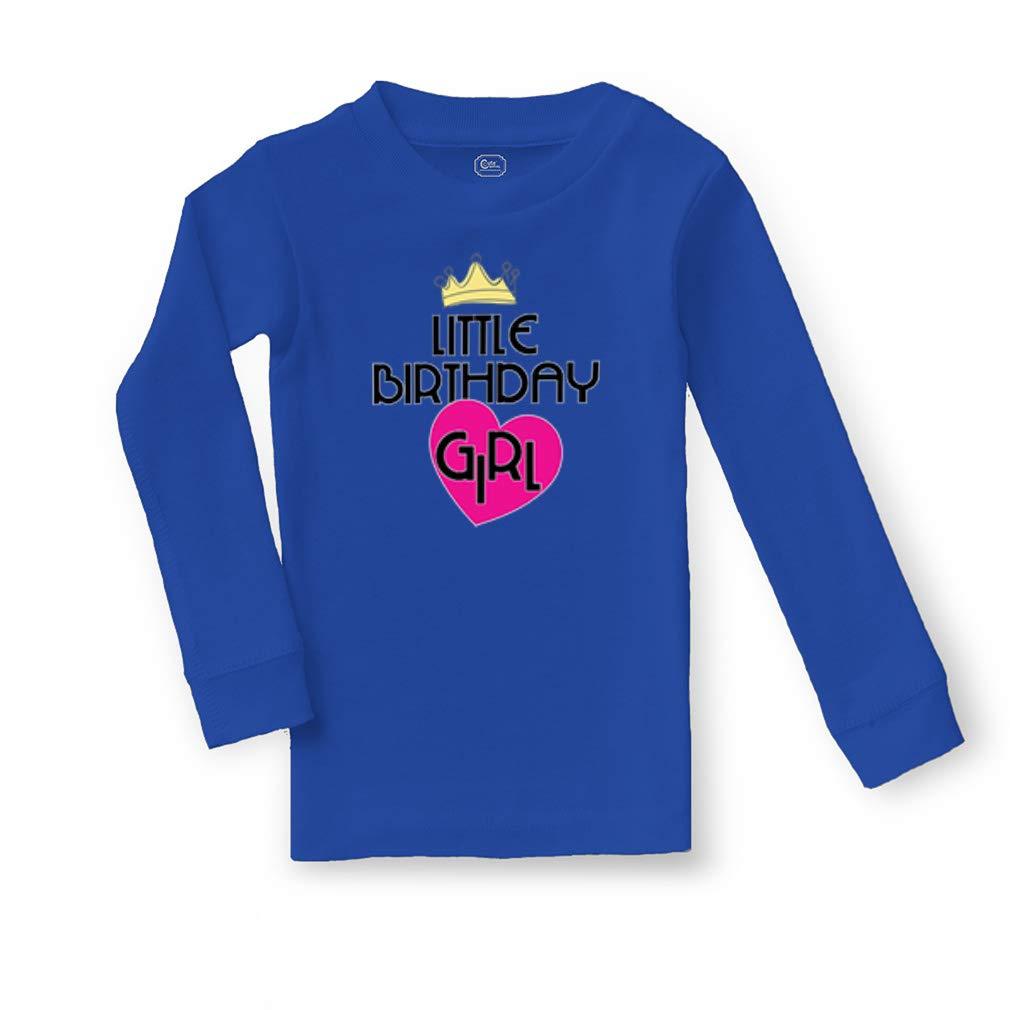 Little Birthday Girl Cotton Crewneck Boys-Girls Sleepwear Pajama 2 Pcs Set