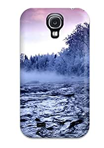 Galaxy S4 Hard Back With Bumper Silicone Gel Tpu Case Cover Winter Trees Fog River Snow Amp Digital