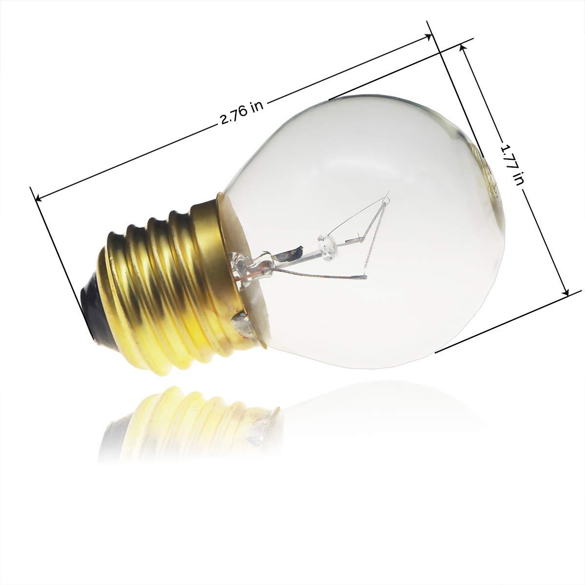 Jslinter 40 watt Appliance Oven Light Bulb High Temp 120v Clear 415 Lum...