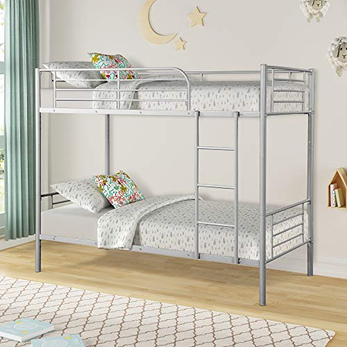 Merax Twin Over Twin Metal Bunk Bed - Bunk Beds Camp Metal
