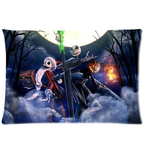 1 X Nightmare Before Christmas Custom Zippered Pillowcase 20x30 Two sides AAco shop OOXJtyu