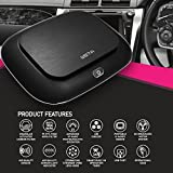 WSTA Car Air Purifier,Car Ionizer,Portable Air Purifier and Ionic Air Purifier,Car Air Cleaner with True Hepa Remove Cigarette Smoke,Dust,Pollen and Bad Odors(Black)