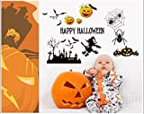 Christmas Eccentric Elite Pumpkin wall stickers Personal Sticky Halloween Removable Glass Sticker (10)