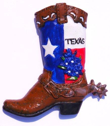 Clicks Magnets (Texas Cowboy Boot United States, Souvenir, High Quality Resin 3d Fridge Magnet)