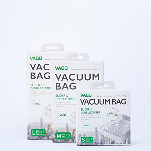 VAGO Portable Vacuum Compression Bag Travel Luggage Space Saver (S/M/L) (S (36cm x 36cm)) - coolthings.us