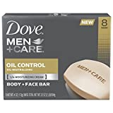Dove Men+Care Body and Face Bar, Oil Control 4 oz, 8 Bar