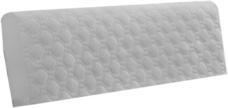 Homyl Copri Testata Letto Protezione da Mobili Fodera Elastica Antipolvere Estensibile Beige