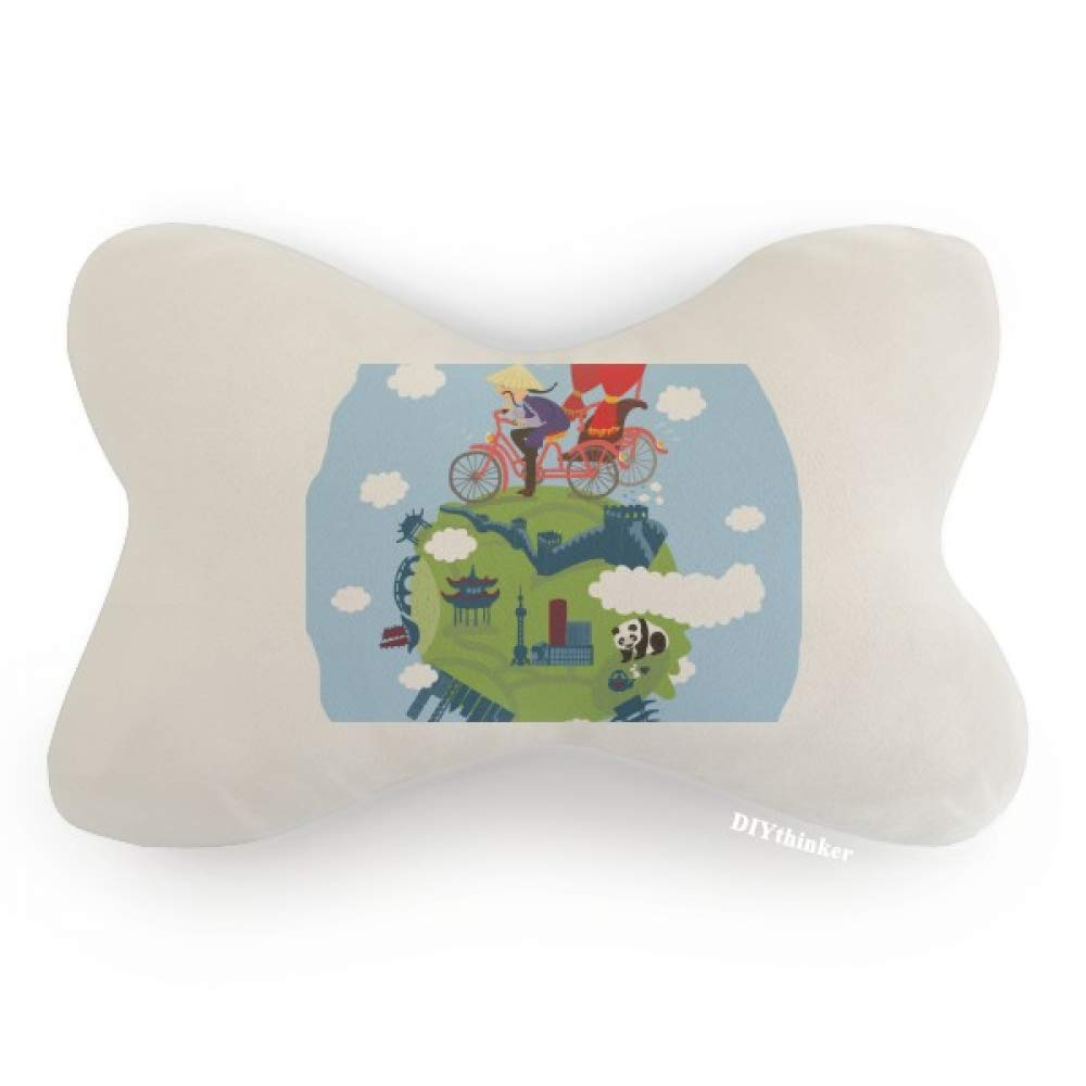 DIYthinker Chinese The Great Wall Art Car Neck Pillow Headrest Support Cushion Pad