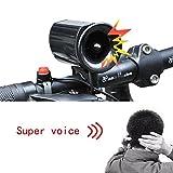 HaiHui Black Electronic Horn For Bicycle Mountain Bike Folding Bike Motorcycle Bicycle (21-23mm)