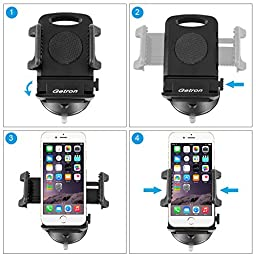 Car Mount Holder, Getron Windshield Dashboard Universal Car Mobile Phone Cradle for iPhone 7 Plus 7 6S Plus 6S 5S 5C Samsung Galaxy S7 Edge S7 S6 S5 Note 5 4 LG G5 G4 HTC M10 and Most Smartphones
