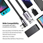 UGREEN-2-Pezzi-1m-2m-Cavo-USB-C-90-Gradi-3A-Supporta-Ricarica-Rapida-QC-30-20-FCP-Cavo-USB-Type-C-in-Nylon-Compatibile-con-Samsung-A70-A40-A50-M20-S10-Huawei-P30-P20-Lite-Xiaomi-Redmi-Note7-Mi-A2