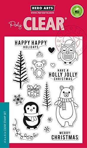 Hero Arts CM103 Holiday Animals Clear Design Stamp -