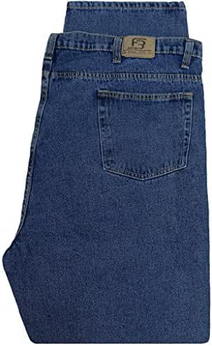 Big & Tall Men's Denim Jeans by Full Blue - Fixed Waist Medium Blue