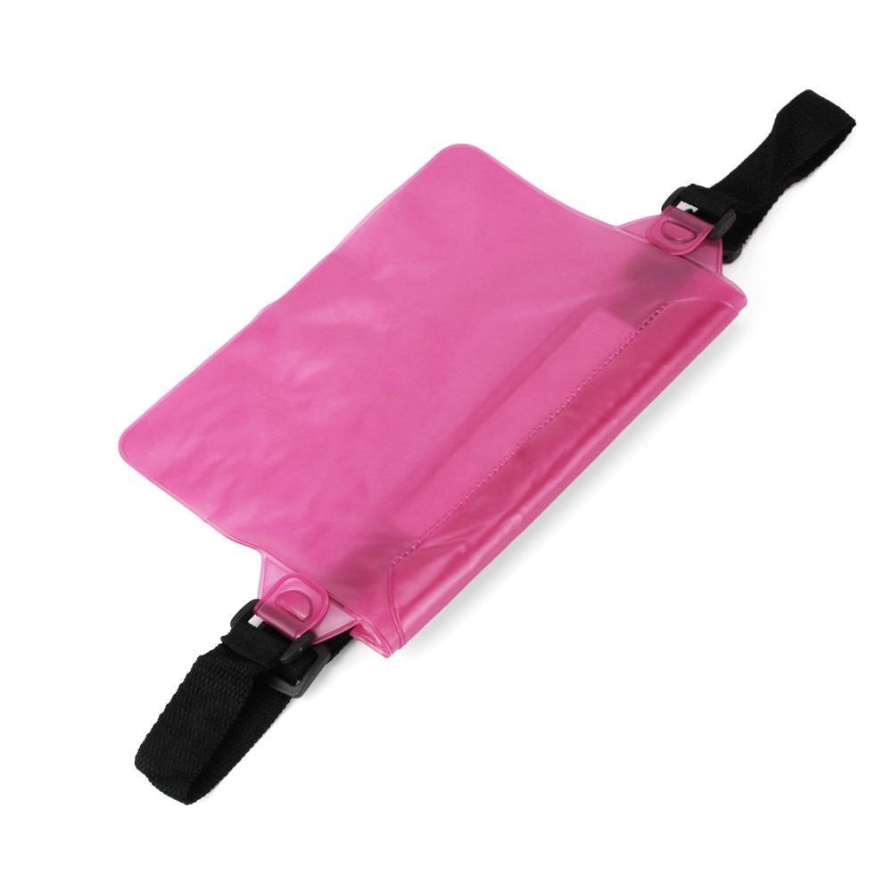 Start Sport Swimming Running Cycling Beach Waterproof Waist Belt Bag Items Dry Holder Strap Pouch (Hot Pink)