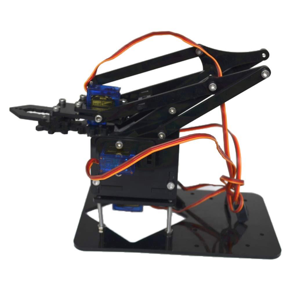 B Blesiya DIY 4-Dof Robot Mechanical Arm with 4 Servos Circuits Kits for Arduino Scientific Exploration Educational Toy