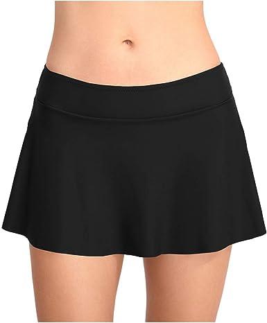 Meijunter Nadar Falda para Mujer - Sólido Color Bikini Tankini ...