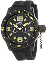 Invicta Mens 1796 Specialty Black Dial Black Polyurethane Strap Watch