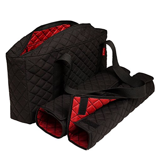 NEW! - Empty Mahjong Bag - Black Quilted Soft Bag by Linda Li - Empty Bag Only