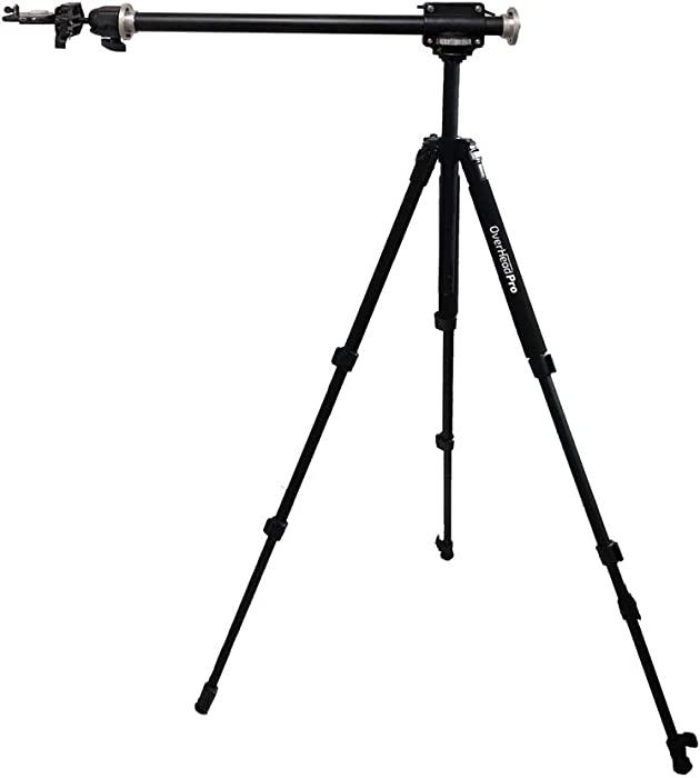 OverHead Pro The 2-in-1 Tripod Kit - Complete Kit for Smartphone and DSLR Photography Videography Food Recipe Product Unboxing Illustration Knitting Flat Lay