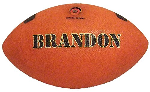 (Custom Print Large Text On Bottom - TealCo Light-up Football (Adult Size, Correct Weight, LED-Lighted Glow in the Dark!))