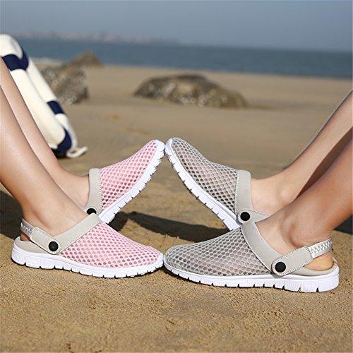 Vnfire Män Kvinnor Halkfri Andas Mesh Netto Tofflor Sandaler Idrott Skor Sommar Sneakers Pink-1