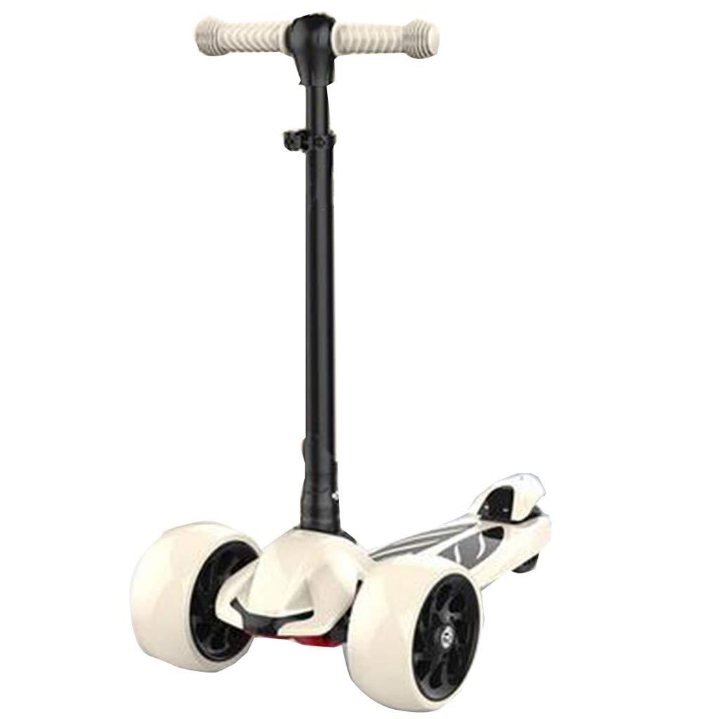 4高さ調節可能折りたたみ式3輪子供用男の子と女の子点滅LEDホイールスクータースムーズなライディングに傾くキックスクーター116年幼児子供用 B07QVNBN3R B B
