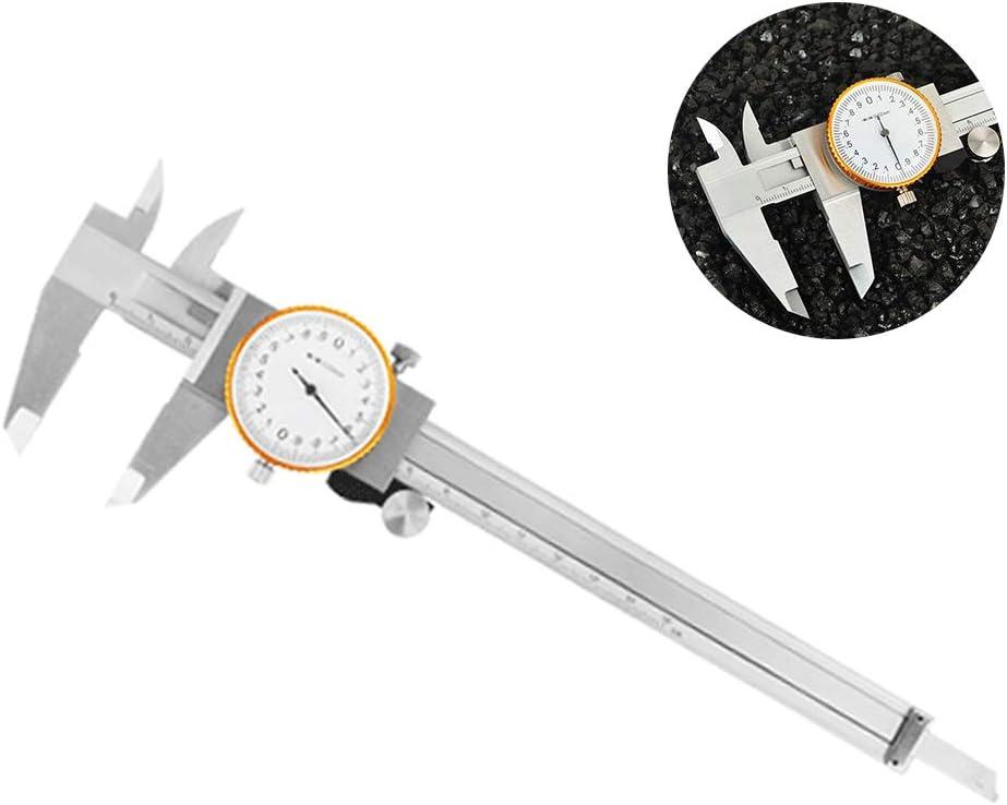 Metric Imperial Gauge Dial Vernier Caliper Measuring Tool With Dial Portable