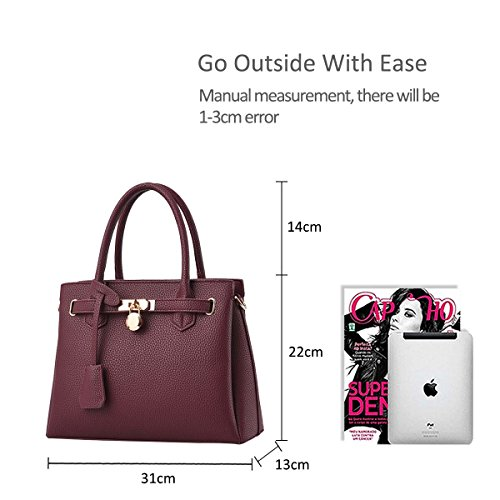 Nicole amp;Doris Hand Shouder PU New Elegant Fashionable Bag Classic Mulberry The Leather Litchi Pattern Bag Black g18xdgq