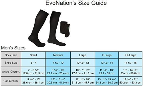 EvoNation Men's USA Made Graduated Compression Socks 20-30 mmHg Firm Pressure Medical Quality Knee High Orthopedic Support Stockings Hose - Best Comfort Fit, Circulation, Travel (Large, Gray) by EvoNation (Image #3)