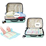 HomeIdeas 12 Packs Space Saving Bags, Roll Up Bags (No Vacuum Needed), Perfect Storage Bags for Travel, Work and Home Storage, Lighter and Softer, PREMIUM QUALITY (12 Set)