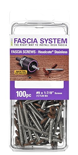 Headcote Stainless Steel Fascia Screws 9 x 1-7/8
