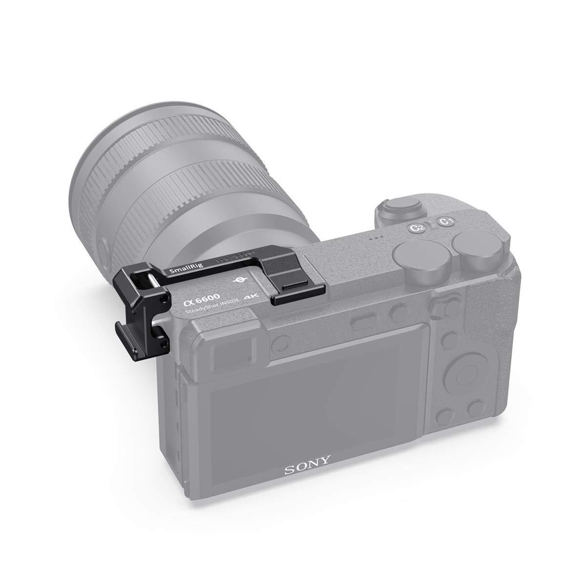 BUC2498 SMALLRIG Ambos Lados Cold Shoe Placa de Reubicacion para Camara Sony a6600