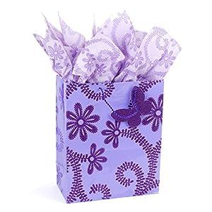 Hallmark Large Gift Bag with Tissue Paper (Lavender)