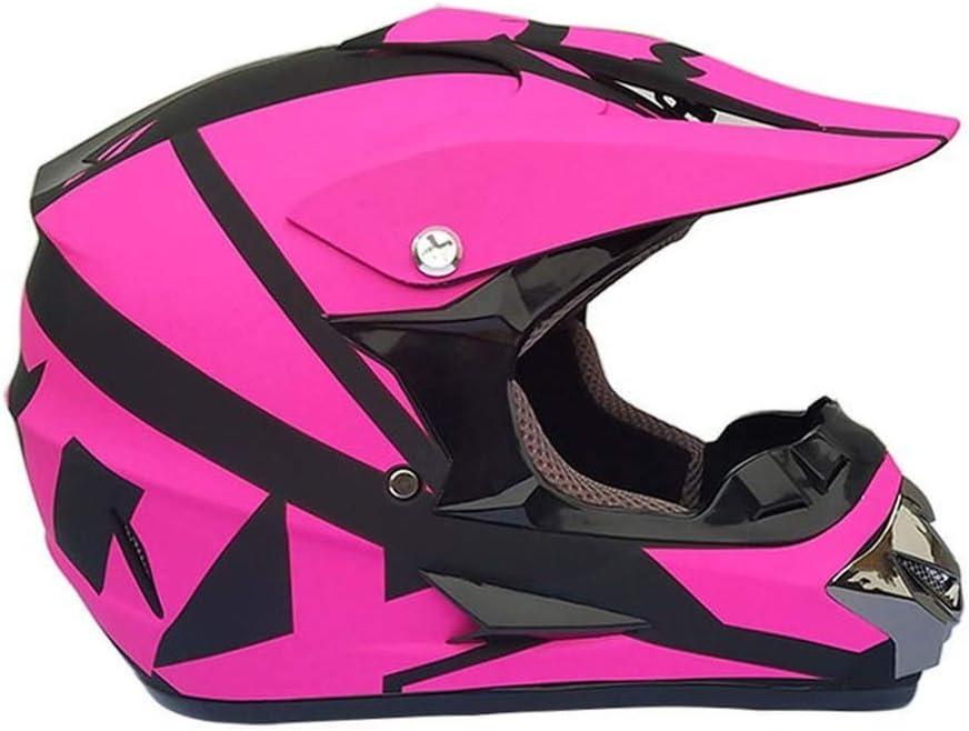 Handschuhe Maske DH-Rennhelm BMX-Helm YXCXY Motocross-Helm Blau wei/ß, S Vierjahreszeiten-Universal-Motorradhelm Unisex-Vierjahreszeiten-Motorradhelm mit Schutzbrille