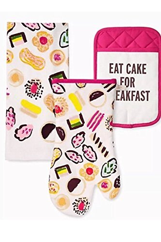 Kate Spade of New York 3 Piece Kitchen Set - Let Them Eat Cake